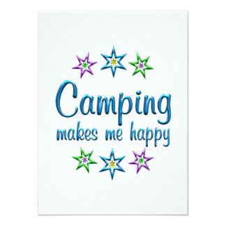 Camping Happy Personalized Announcements