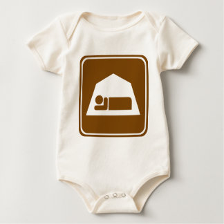 Camping Highway Sign Baby Bodysuit