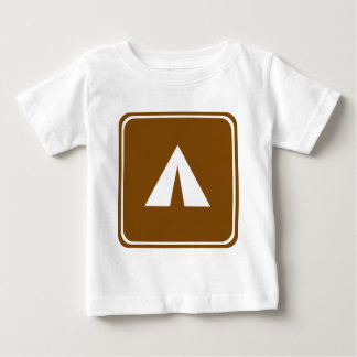 Camping Highway Sign Baby T-Shirt