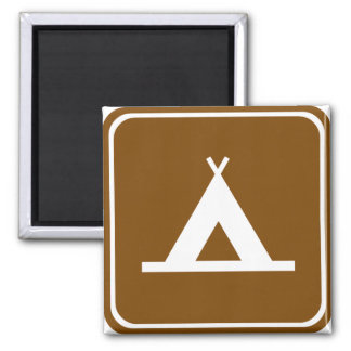 Camping Highway Sign Magnet