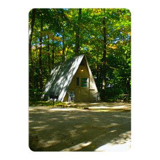 Camping in an A-Frame Cabin 13 Cm X 18 Cm Invitation Card