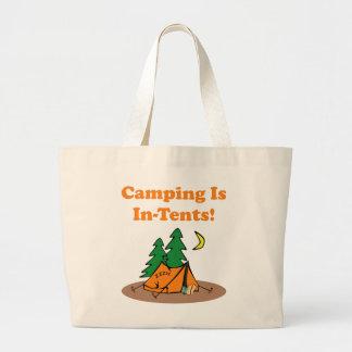 Camping In Tents Jumbo Tote Bag
