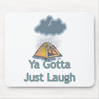 Camping in the Rain Mouse Mat