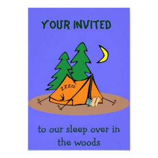 """camping invitation 5"""" x 7"""" invitation card"""