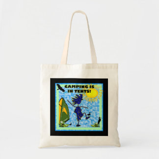 Camping Is In Tents Design Tote Bag