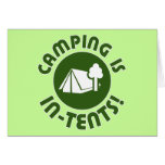 camping is in-tents greeting cards