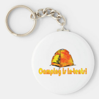 Camping is in-tents! Keychain