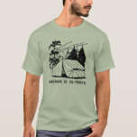 Camping is In-Tents Scene, Black T-Shirt