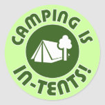 camping is in-tents sticker