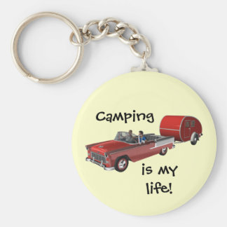 Camping Is My Life Keychain