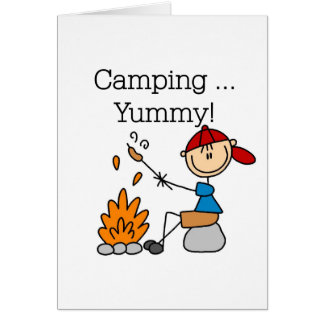 Camping is Yummy Greeting Card