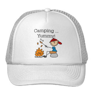Camping is Yummy Tshirts and Gifts Trucker Hats