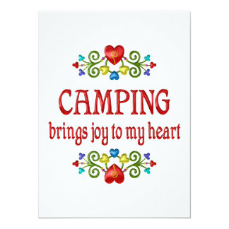 Camping Joy Invite