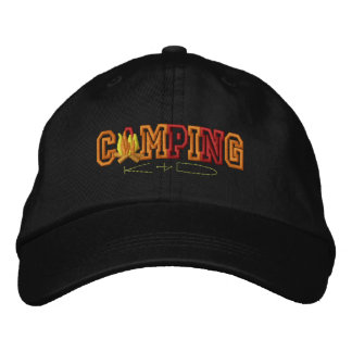 Camping Kid Embroidered Hat