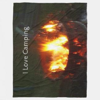 Camping Large Fleece Blanket