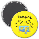 Camping Let The Beer Flow 7.5 Cm Round Magnet