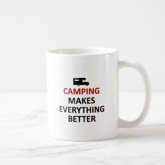 Camping makes everything better coffee mug