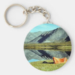Camping on unnamed lake in Brooks Range Keychains