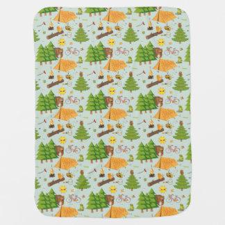 Camping Pattern Baby Blanket
