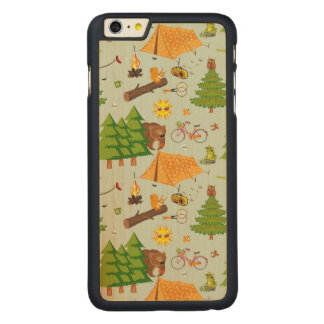 Camping Pattern Carved® Maple iPhone 6 Plus Case