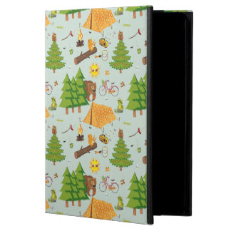 Camping Pattern Case For iPad Air