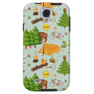 Camping Pattern Galaxy S4 Case