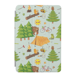 Camping Pattern iPad Mini Cover