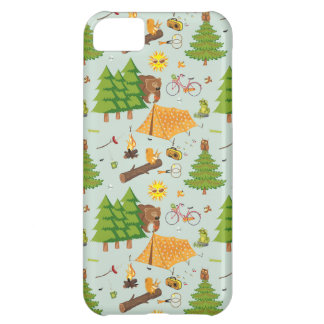 Camping Pattern iPhone 5C Case