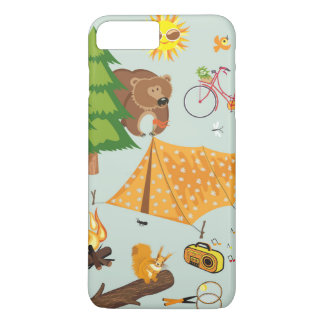 Camping Pattern iPhone 7 Plus Case