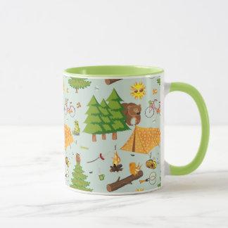 Camping Pattern Mug