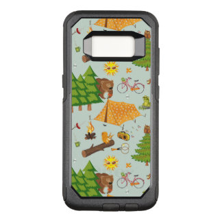 Camping Pattern OtterBox Commuter Samsung Galaxy S8 Case