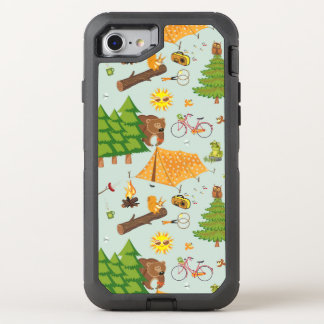 Camping Pattern OtterBox Defender iPhone 7 Case