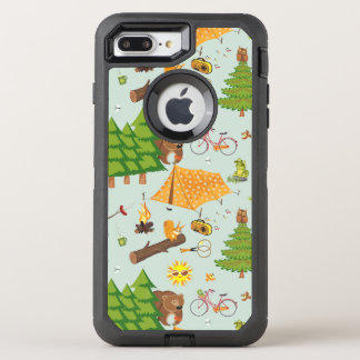 Camping Pattern OtterBox Defender iPhone 7 Plus Case