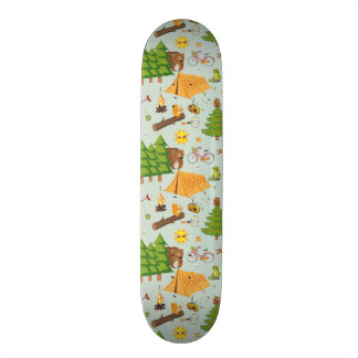 Camping Pattern Skate Board Decks