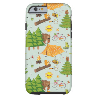 Camping Pattern Tough iPhone 6 Case