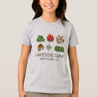 Camping Personalized Summer Camp Camper Tee