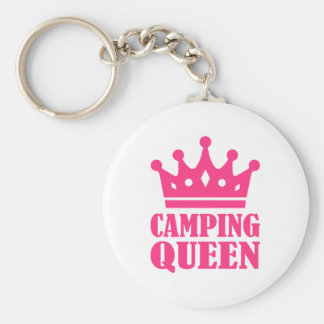 Camping Queen champion Basic Round Button Key Ring