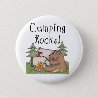 Camping Rocks 6 Cm Round Badge