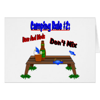 Camping Rule #2 Blue Birds Greeting Card