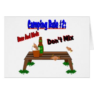 Camping Rule #2 Greeting Card