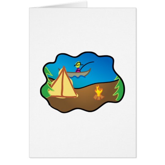 Camping Scene Card