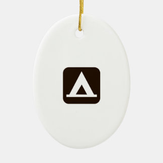Camping Sign Symbol Christmas Ornament