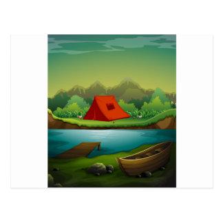 Camping site postcard