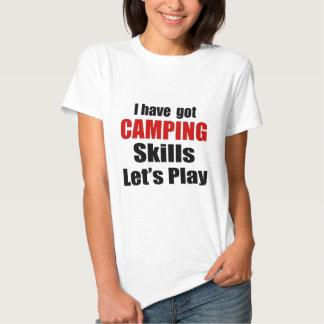 CAMPING SKILLS DESIGNS TSHIRT