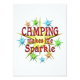 Camping Sparkles Personalized Invite