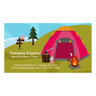 Camping supply store pack of standard business cards