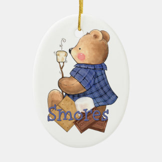 Camping Teddy Bear Christmas Ornament