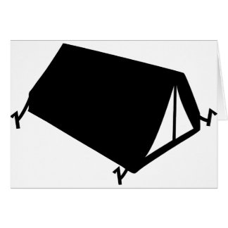 camping tend icon greeting card