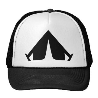 camping tend icon mesh hat