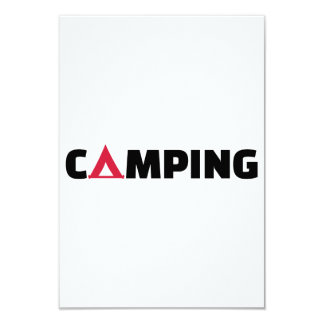 Camping tent 3.5x5 paper invitation card